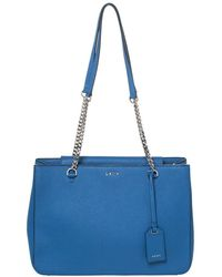 DKNY Blue Leather Tote
