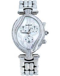 Balmain Mother Of Pearl Stainless Steel Diamond Excessive 5651 Women's Wristwatch 33 Mm - Metallic