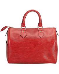 Louis Vuitton - Red Epi Leather Speedy 25 Bag - Lyst
