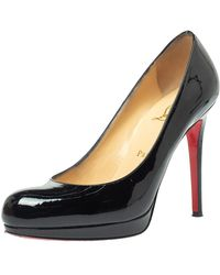 Christian Louboutin Black Patent Leather New Simple Court Shoes