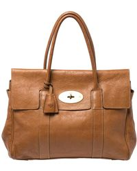 Mulberry Tan Leather Bayswater Satchel - Brown