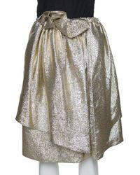 Stella McCartney Gold Lurex Gathered Brynn Asymmetric Skirt - Metallic