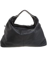 Furla Black Leather Elisabeth Hobo