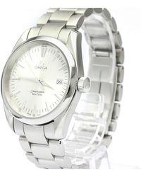 Omega White Stainless Steel Seamaster Aqua Terra 2518.30 Men's Wristwatch 36 Mm