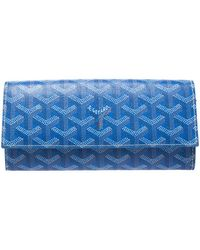 Goyard Blue Coated Canvas Ine Varenne Continental Wallet