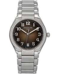 Patek Philippe Black Diamonds Stainless Steel Twenty-4 7300/1200a-010 Wristwatch 36 Mm