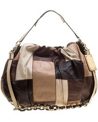 Dolce & Gabbana Multicolour Patchwork Leather Miss Night And Day Hobo