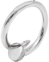 Cartier Juste Un Clou White Gold Diamond Ring Size 54 - Metallic