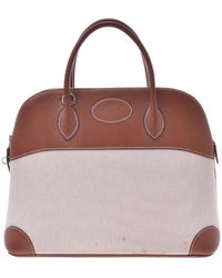 Hermès Brown/beige Leather Bolide 37 Bag - Natural