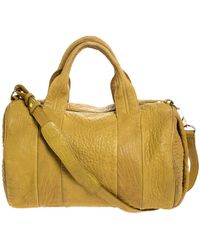 Alexander Wang Mustard Pebbled Leather Rocco Duffel Bag - Yellow