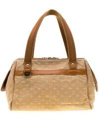Louis Vuitton Beige Monogram Mini Lin Josephine Pm Bag - Natural