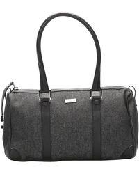 Gucci Black Canvas Boston Bag
