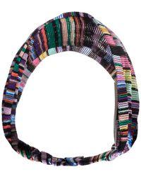 Missoni Multicolour Striped Knit Headband - Blue