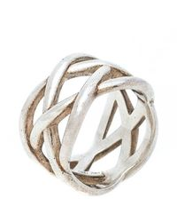 Tiffany & Co. Celtic Knot Silver Band Ring - Metallic