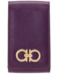 Ferragamo Purple Leather Iphone 4 Case