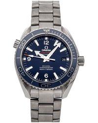 Omega Blue Titanium Seamaster Planet Ocean 600m 232.90.42.21.03.001 Wristwatch 42 Mm
