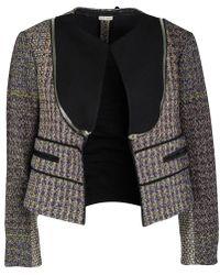 Céline - Multicolor Wool Zip Detail Crop Jacket M - Lyst
