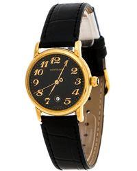 Montblanc Black Gold-plated Stainless Steel Meisterstuck 7005 Wristwatch 32mm