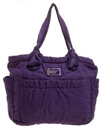 Marc By Marc Jacobs Purple Nylon Large Pretty Tate Tote