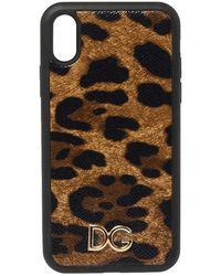 Dolce & Gabbana Brown Leopard Print Dauphine Iphone Xr Case