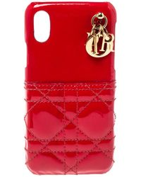 Dior Red Cannage Patent Leather Lady Iphone X/xs Case
