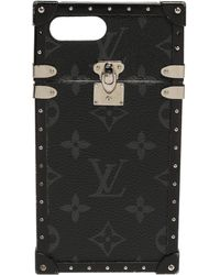 Louis Vuitton Monogram Eclipse Eye Trunk Iphone 7 Plus Case - Black