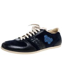 Bottega Veneta Blue Suede And Leather Butterfly Trainers