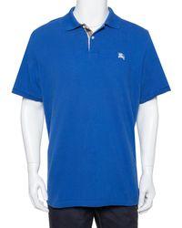 Burberry Brit Blue Cotton Pique Polo T-shirt