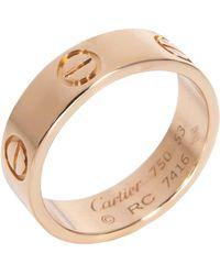Cartier 18k Rose Gold Love Ring - Metallic