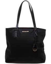 76c2bc2440fd MICHAEL Michael Kors - Black Nylon And Leather Large Morgan Tote - Lyst