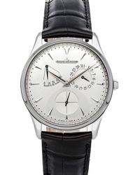 Jaeger-lecoultre Silver Stainless Steel Master Ultra Thin Reserve De Marche Q1378420 Wristwatch - Metallic