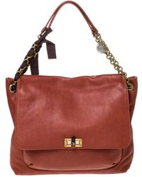 Lanvin Marron Leather Happy Shoulder Bag - Brown