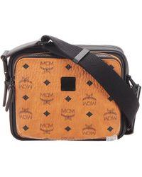 MCM Brown/black Visetos Leather Crossbody Bag