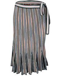 Missoni Multicolor Striped Knit Wrap Skirt
