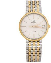 Omega Silver Two-tone Stainless Steel De Ville 396.2432 Men's Wristwatch 32 Mm - Metallic