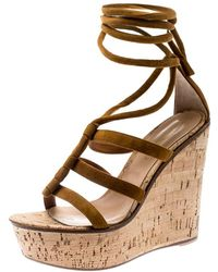 Gianvito Rossi - Brown Suede Sandals - Lyst