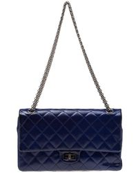 aacae61508c79a Chanel - Purple Quilted Patent Leather Reissue 2.55 Classic 226 Flap Bag -  Lyst