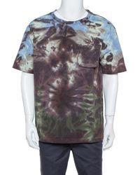 Louis Vuitton Multicolor Tie-dye Printed Knit Pocket Detail T Shirt