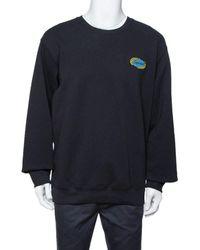 Supreme - Black Cotton Chain Logo Embroidered Sweatshirt Xl - Lyst