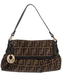 Fendi Tobacco Zucca Canvas And Leather Chef Hobo - Brown