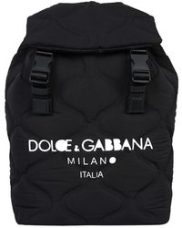 Dolce & Gabbana Black Palermo Nylon Backpack