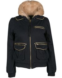 Marc By Marc Jacobs - Gold Trim Faux Fur Hooded Shearling Sweatshirt S - Lyst