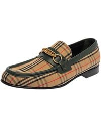 Burberry Multicolour Nova Check Canvas And Leather Moorley Runway Loafers