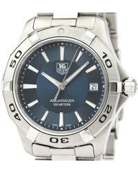 Tag Heuer Blue Stainless Steel Aquaracer Quartz Wap1112 Wristwatch