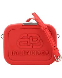 Balenciaga Red Recycled Plastic/leather Lunch Box Mini Case Bag