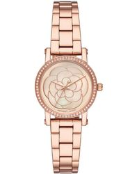 Michael Kors - Mop Rose Gold Plated Steel Petite Norie Mk3892 Women's Wristwatch 28mm - Lyst