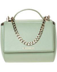 Givenchy Lime Green Leather Mini Pandora Box Shoulder Bag