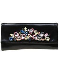 Roberto Cavalli \n Black Leather Clutch Bag