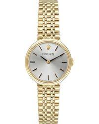 Rolex Silver 14k Yellow Gold Vintage Cocktail Wristwatch 24 Mm - Metallic