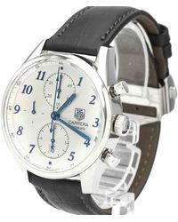 Tag Heuer White Stainless Steel Carrera Heritage Calibre 16 Automatic Cas2111 Wristwatch 41 Mm